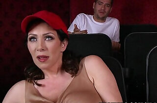 Dude fucks stepmom in the porn theater
