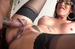 Femdom slut gets an anal creampie