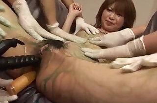 Smashing dildo play for horny Sakurai