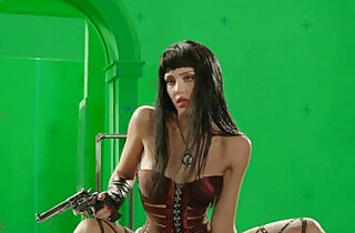 Jessica Alba Stripping Behind The Scenes Green Screen From Sin City