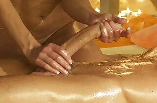 Handjob Massage From Gorgeous busty Blonde