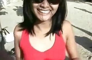 Indonesian Girl Gone Wild On The Bali Beach