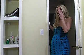 Mom teaches a blond teen how to fuck properly
