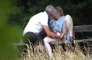 Caught my mom outdoor having fun with boy friend