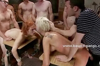 Nasty mature lesbians abused by college boys