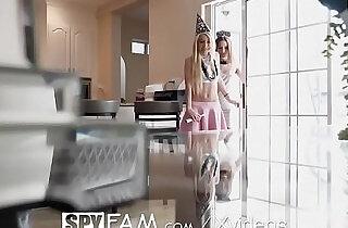 SpyFam Stepdaughter Kenzie Reeves sneaks her girlfriend in on New Years