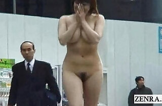 Subtitled cfnm Japanese authentic public nudity in Tokyo