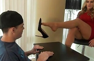 Teacher and students feet play
