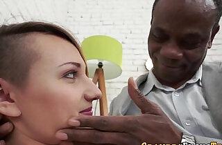 Slut sucks and fucks black man