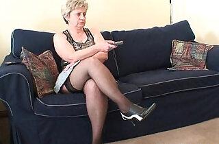 Grandma takes cocks after masturbation