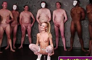 British skank face covered in bukkakke cum