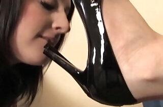 Lindsey High Heel Licking, Foot Gagging, and Foot Worship