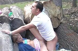 Nasty whore in public gets sex