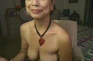 Asian masturbates on webcam
