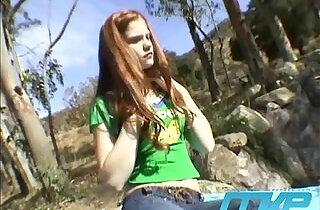 Redhead Masturbates in the Woods
