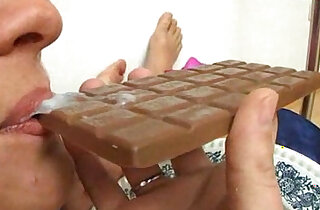 cum on food chocolate bar