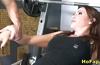 Big Tits Wife sucks and Fucks Young Gym Instructor