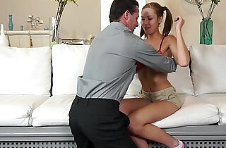 Molly Manson bouncing her pussy on top of step dad