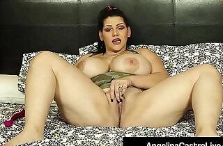 Cuban princess angelina castro dildo bangs her juicy pussy