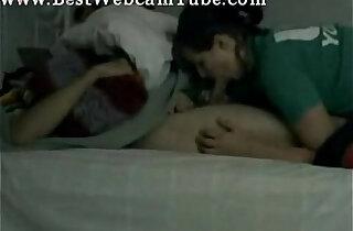 Girl loves sucking some cock of sleeping boyfriend