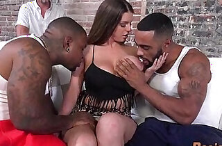 Hot White Wife big Black monster Cock In Front Of Her Husband