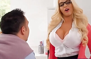 Busty amateur blonde real estate agent fucks with her client