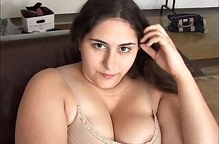 Beautiful brunette BBW has a soaking wet pussy