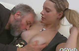 Juvenile sweetheart licks and rides old rod