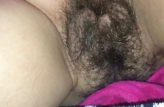 Hot Jizz All Over her Hairy Bush
