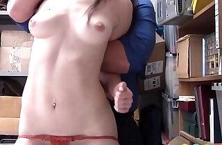 Cute blonde Teen Shoplifter Fucked