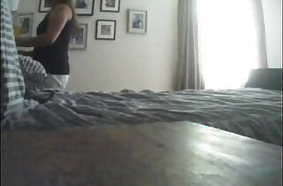 Horny Mom Masturbating to Porn on Hidden Cam
