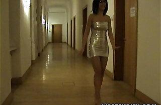 Amateur Milf sucks and fucks in a hotel room