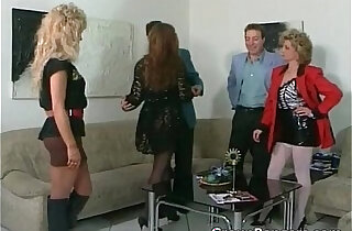 Brutal threesome fuck with hot blonde