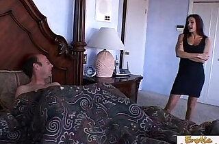 Mad cougar cant say no to a big hard cock