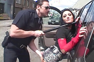 Brunette Fucked By Horny Cop