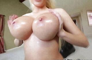Curvy busty blonde fucked