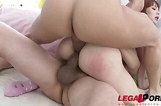 Redhead alexa nova flipped upside down for double anal