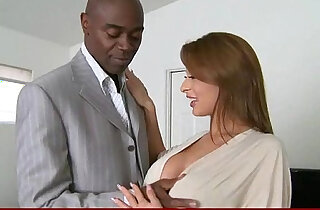 Mature slut lady gags and gets deep anal banged by a black cock
