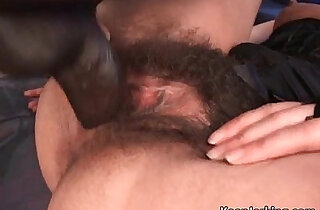 Hot sexy young brunette with her hairy