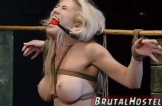 Bondage anal gang rough blowjob cum swallow Big breasted blond hottie