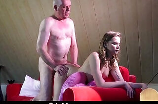 Experienced young escort ass rimming in the craziest fuck session with old man