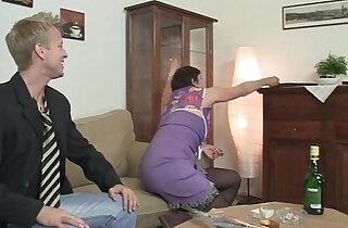 Old mom enjoys big black cock